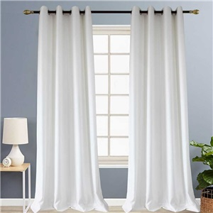 White Check Jacquard Curtain Nordic Simple Semi Blackout Curtain Living Room Bedroom Kid's Room Fabric