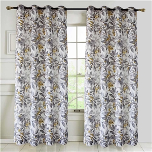 Simple Plant Printing Curtain Nordic Rural Style Semi Blackout Curtain Living Room Bedroom Kid's Room Fabric