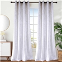 White Velvet Curtain Simple Luxurious Semi Blackout Curtain Living Room Bedroom Kid's Room Fabric (One Panel)