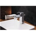 Contemporary Modern Waterfall Basin Faucet With Single Handle Bathroom Taps (MS105)