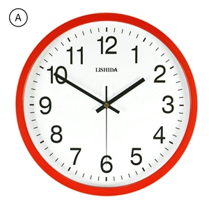 Colored Frame Wall Clock Modern Iron Mute Wall Clock