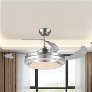 Modern Fan Ceiling Light Mute Fan Light Exquisite Inverted Stage Shape Decoration Light with Remote Control