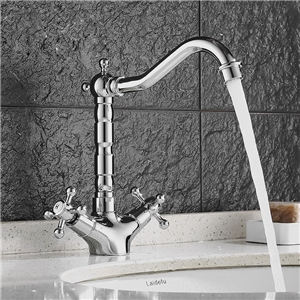 Sleek Chrome Bathroom Sink Faucet Modern Shape Bathroom Sink Tap