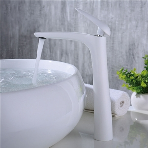 Modern High Basin Faucet Stoving Varnish Bathroom Sink Tap