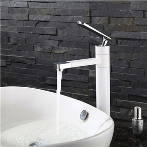 Deck Mount Bathroom Sink Faucet Modern Sleek Bathroom Sink Tap with Swiveling Spout