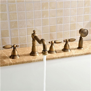 Classical Tub Faucet Deck Mount Bathtub Tap with Hand Shower
