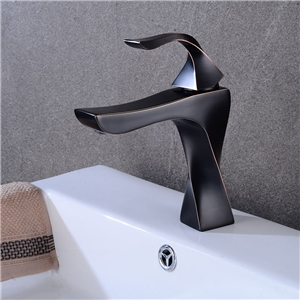 Special Twisted Basin Faucet Unique Bathroom Sink Tap Black/Chrome/Brushed Nickel