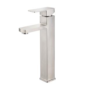 Brushed Nickel Countertop Faucet Stainless Steel Vessel Sink Tap