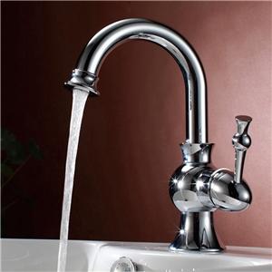 Modern Sleek Basin Faucet Widespread Sink Tap