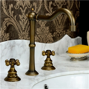 Antique Brass Basin Faucet Special High Sink Tap