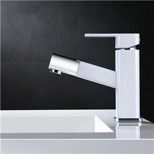 Elegant Pull Down Basin Faucet Contemporary Bathroom Sink Tap