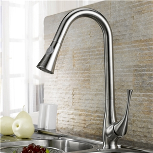 Brushed Nickel Kitchen Tap Stainless Steel Pull Down Kitchen Faucet