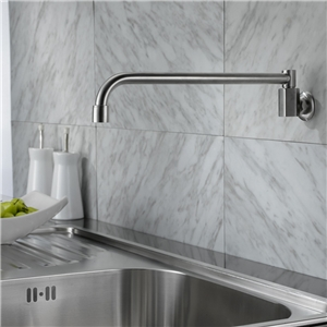 Stainless Steel Kitchen Faucet Wall Mount Brushed Nickel Kitchen Tap Cold Only
