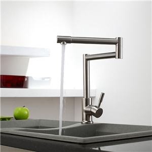 Cool Kitchen Sink Faucet Unique Retractable Pot Filler Stainless Steel Brushed Nickel Tap