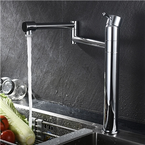 Industrial Foldable Kitchen Faucet Chrome Dual Function Sink Tap
