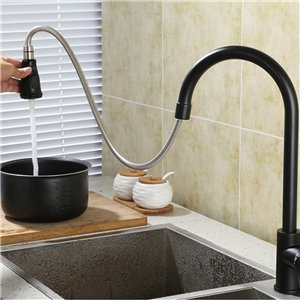 High-Arc Kitchen Faucet Modern Pullout Sprayer Kitchen Tap