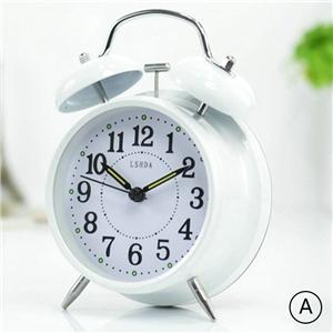 Modern Simple Table Clock Metal Alarm Clock Mute Desk Clock Tabletop Clock N402