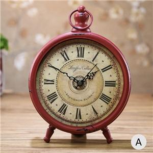 European Vintage Table Clock Desk Clock Tabletop Clock 20cm(8inch)FG608