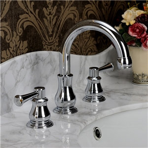 Sleek Curved Sink Faucet Classical Chrome Bathroom Sink Tap Chrome/Gold/Antique Brass