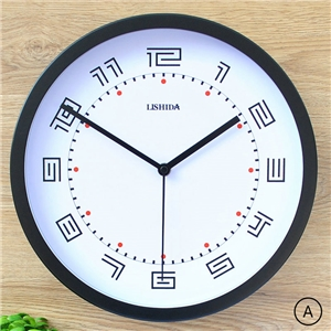 Large Round Wall Clock Modern Metal Non Ticking Clock Wall Decor Clock LTB