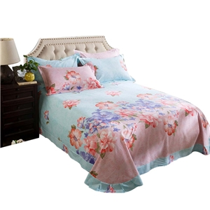 Flower in Bloom Bedding Set Soft Skin-friendly Bedclothes Pure Cotton 4pcs Duvet Cover Set