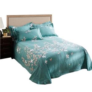 Modern Branch Bedding Set Blueish Green Bedclothes Pure Cotton 4pcs Duvet Covet Set