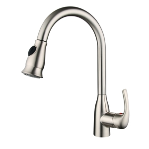 Stainless Steel Kitchen Faucet Brushed Tap with Pull Out Sprayer