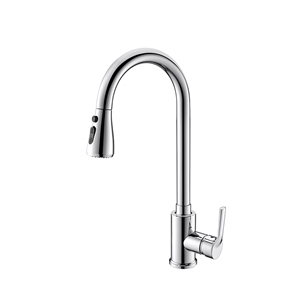 Modern Solid Brass Kitchen Sink Faucet Swivel Spout Kitchen Tap Chrome Brushed Black Gold