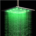 16 Inch LED Shower Head Square Stainless Steel Rain Shower Head