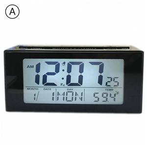 Modern Simple LCD Electric Table Clock Desk Clock Mute Bedside Clock D91809