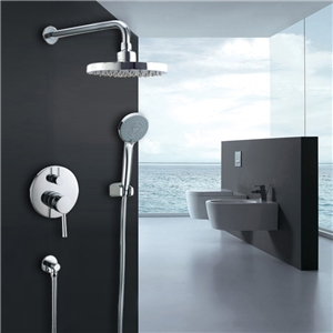 In-wall Round Shower Faucet Durable Rain Shower System