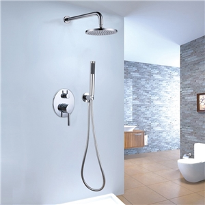 Contemporary Round Shower Faucet Im-wall Rain Shower System