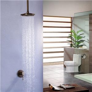 Antique Brass Shower Faucet Ceiling Mount Rain Shower Head