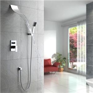 Modern Waterfall Shower Faucet In-wall Shower Faucet Set