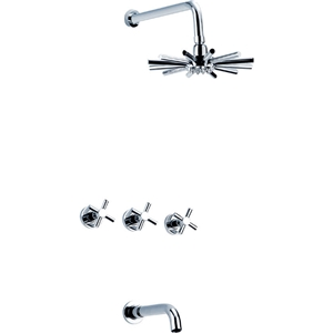 Unusual Rain Shower Faucet Wall Mount Shower System with Special Shower Head