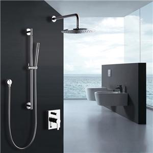 Contemporary Rainlfall Shower Faucet In-wall Rainshower with Handshower Set