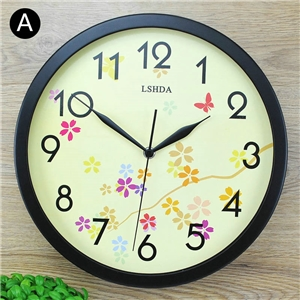 Nordic Wall Clock Metal Round Mute Wall Clock Wall Decor Clock ZX309 ZX311
