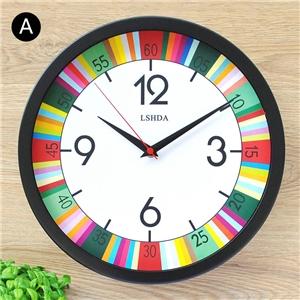Artistic Round Wall Clock Modern Non Ticking Clock Wall Decor ZX312 ZX316