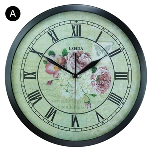 Retro Style Wall Clock Round Non Ticking Wall Clock Wall Decor Clock FZ105107