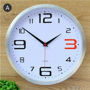 Fashion Wall Clock Metal Frame Mute Wall Clock Decorative Clock LTS