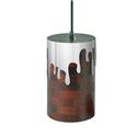 Round Mirror Pendant Light Industrial Stainless Steel Pendant Light Wooden Living Room Bedroom Light