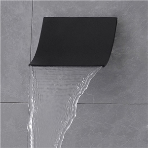 Black Waterfall Tub Faucet Wall Mount Bathtub Tap