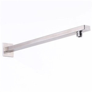16 Inch Stainless Steel Shower Arm Square Brushed Nickel Shower Arm