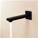 Wall Mount Black Tub Faucet Spout