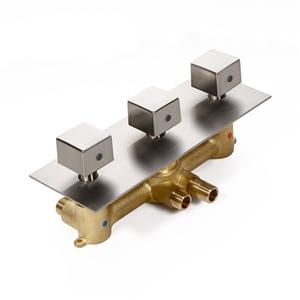 Modern 3-Function Shower Valve Brushed Nickel Shower Valve