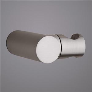 Brushed Nickel Handheld Shower Holder Round Solid Brass Hand Shower Holder