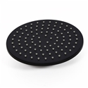 Matte Black Shower Head Solid Brass Round Rain Shower Head 8