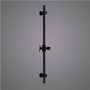 Adjustable Round Slide Bar Wall Mount Black Shower Slide Bar
