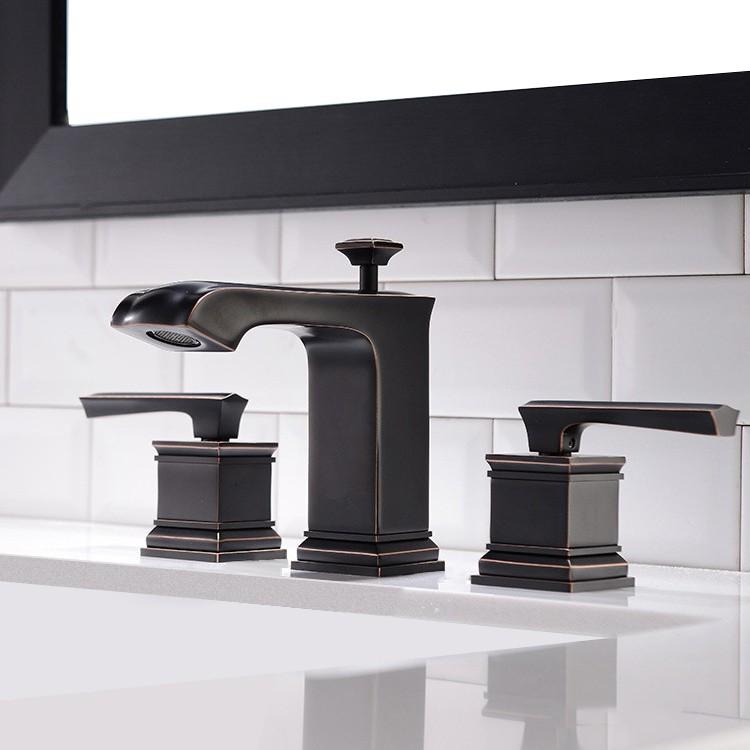 Special Widespread Bathroom Sink Faucet Antique Black Oil