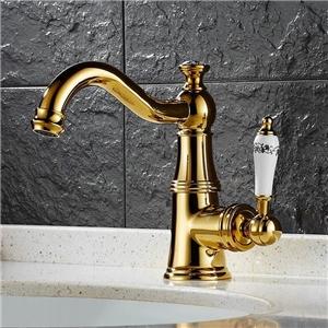 Elegant Curved Bathroom Sink Faucet Victorian Style Bathroom Sink Tap